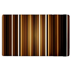 Brown Line Image Picture Apple Ipad 3/4 Flip Case by Mariart