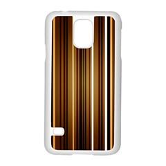 Brown Line Image Picture Samsung Galaxy S5 Case (white) by Mariart