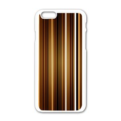Brown Line Image Picture Apple Iphone 6/6s White Enamel Case by Mariart