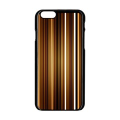 Brown Line Image Picture Apple Iphone 6/6s Black Enamel Case by Mariart