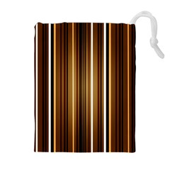 Brown Line Image Picture Drawstring Pouches (extra Large) by Mariart