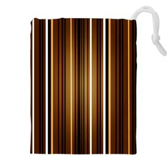 Brown Line Image Picture Drawstring Pouches (xxl)