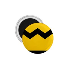 Chevron Wave Yellow Black Line 1 75  Magnets by Mariart