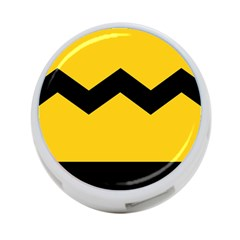 Chevron Wave Yellow Black Line 4 Port Usb Hub (one Side) by Mariart
