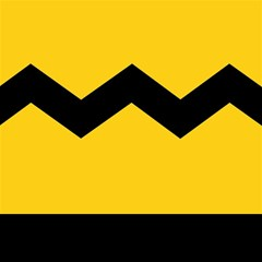 Chevron Wave Yellow Black Line Magic Photo Cubes by Mariart