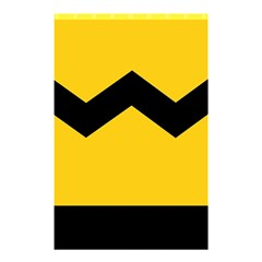 Chevron Wave Yellow Black Line Shower Curtain 48  X 72  (small)  by Mariart