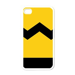 Chevron Wave Yellow Black Line Apple Iphone 4 Case (white) by Mariart