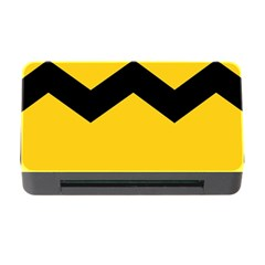 Chevron Wave Yellow Black Line Memory Card Reader With Cf by Mariart