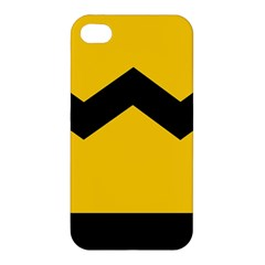 Chevron Wave Yellow Black Line Apple Iphone 4/4s Hardshell Case by Mariart