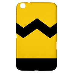 Chevron Wave Yellow Black Line Samsung Galaxy Tab 3 (8 ) T3100 Hardshell Case  by Mariart