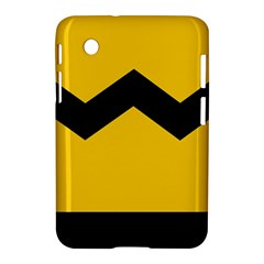 Chevron Wave Yellow Black Line Samsung Galaxy Tab 2 (7 ) P3100 Hardshell Case  by Mariart