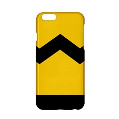 Chevron Wave Yellow Black Line Apple Iphone 6/6s Hardshell Case by Mariart