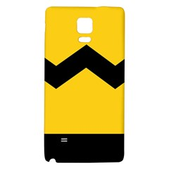 Chevron Wave Yellow Black Line Galaxy Note 4 Back Case by Mariart