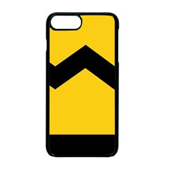 Chevron Wave Yellow Black Line Apple Iphone 7 Plus Seamless Case (black) by Mariart