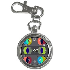 Circles Line Color Rainbow Green Orange Red Blue Key Chain Watches by Mariart
