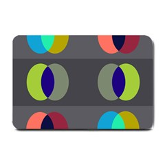 Circles Line Color Rainbow Green Orange Red Blue Small Doormat  by Mariart