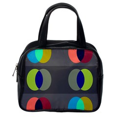 Circles Line Color Rainbow Green Orange Red Blue Classic Handbags (one Side) by Mariart