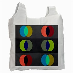 Circles Line Color Rainbow Green Orange Red Blue Recycle Bag (one Side) by Mariart