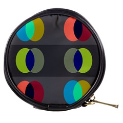 Circles Line Color Rainbow Green Orange Red Blue Mini Makeup Bags by Mariart