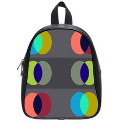 Circles Line Color Rainbow Green Orange Red Blue School Bags (small)  by Mariart