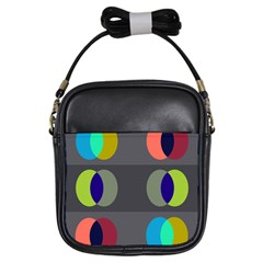 Circles Line Color Rainbow Green Orange Red Blue Girls Sling Bags by Mariart