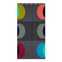 Circles Line Color Rainbow Green Orange Red Blue Shower Curtain 36  X 72  (stall)  by Mariart