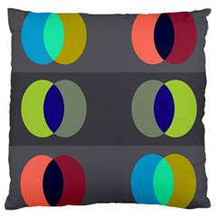 Circles Line Color Rainbow Green Orange Red Blue Large Cushion Case (one Side) by Mariart
