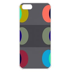 Circles Line Color Rainbow Green Orange Red Blue Apple Iphone 5 Seamless Case (white) by Mariart