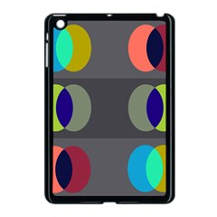 Circles Line Color Rainbow Green Orange Red Blue Apple Ipad Mini Case (black) by Mariart