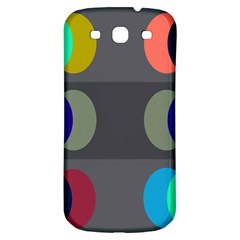 Circles Line Color Rainbow Green Orange Red Blue Samsung Galaxy S3 S Iii Classic Hardshell Back Case by Mariart