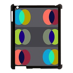 Circles Line Color Rainbow Green Orange Red Blue Apple Ipad 3/4 Case (black) by Mariart