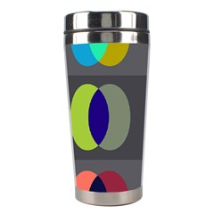 Circles Line Color Rainbow Green Orange Red Blue Stainless Steel Travel Tumblers by Mariart