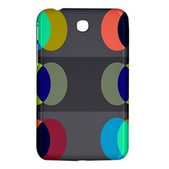 Circles Line Color Rainbow Green Orange Red Blue Samsung Galaxy Tab 3 (7 ) P3200 Hardshell Case