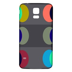 Circles Line Color Rainbow Green Orange Red Blue Samsung Galaxy S5 Back Case (white) by Mariart