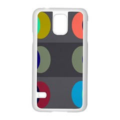 Circles Line Color Rainbow Green Orange Red Blue Samsung Galaxy S5 Case (white) by Mariart