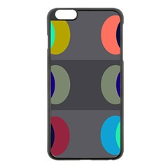Circles Line Color Rainbow Green Orange Red Blue Apple Iphone 6 Plus/6s Plus Black Enamel Case by Mariart