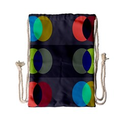 Circles Line Color Rainbow Green Orange Red Blue Drawstring Bag (small) by Mariart