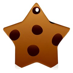 Cookie Chocolate Biscuit Brown Ornament (star) by Mariart