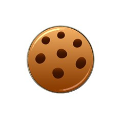 Cookie Chocolate Biscuit Brown Hat Clip Ball Marker (10 Pack) by Mariart
