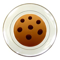 Cookie Chocolate Biscuit Brown Porcelain Plates by Mariart