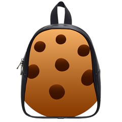 Cookie Chocolate Biscuit Brown School Bags (small)  by Mariart