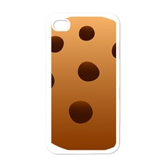 Cookie Chocolate Biscuit Brown Apple Iphone 4 Case (white) by Mariart
