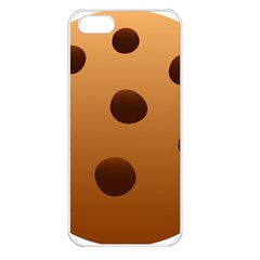 Cookie Chocolate Biscuit Brown Apple Iphone 5 Seamless Case (white) by Mariart