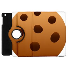 Cookie Chocolate Biscuit Brown Apple Ipad Mini Flip 360 Case by Mariart