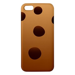 Cookie Chocolate Biscuit Brown Apple Iphone 5 Premium Hardshell Case by Mariart