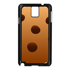 Cookie Chocolate Biscuit Brown Samsung Galaxy Note 3 N9005 Case (black) by Mariart