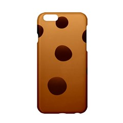Cookie Chocolate Biscuit Brown Apple Iphone 6/6s Hardshell Case by Mariart