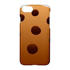 Cookie Chocolate Biscuit Brown Apple Iphone 7 Hardshell Case by Mariart