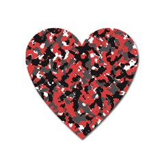 Bloodshot Camo Red Urban Initial Camouflage Heart Magnet by Mariart
