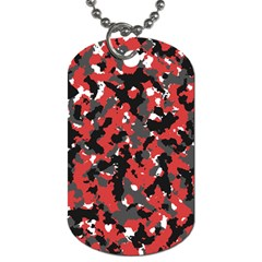 Bloodshot Camo Red Urban Initial Camouflage Dog Tag (two Sides) by Mariart
